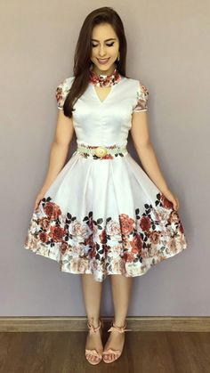 35 Beautiful Casual Dress Ideas for Women 2019 Frock Design, Beautiful Casual Dresses, Pretty Dresses, Robes Vintage, Short Dresses, Girls Dresses, Trend Fashion, African Dress, Dress Patterns