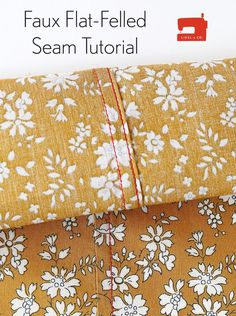 Here's a quick tutorial that will show you how to finish your shirts beautifully by using faux flat-felled seams.