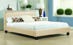 Leather king size bed frame in sleigh style. Swan black leather king size bed frame for those looking for supreme comfort without compromising on style. Cheap King Size Mattress, Cheap King Size Beds, Super King Size Bed, King Size Bed Frame, Foam Mattress, Cheap Beds, Latex Mattress, Leather King Size Bed, Leather Double Bed
