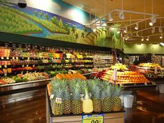 Great use of Ambient lighting to spotlight colorful produce