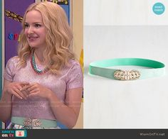 Liv's mint belt on Liv and Maddie.  Outfit Details: http://wornontv.net/51130/ #LivandMaddie