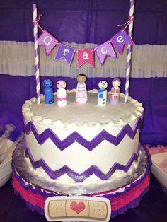 Cake at a Doc McStuffins Party #docmcstuffins #partycake