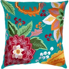 I pinned this Rose Pillow in Turquoise from the Elegantly Eclectic event at Joss and Main!