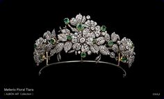 The Mellerio Floral Tiara; early 19th century. Owned by the Leuchtenberg family, descendants of Eugéne de Beauharnais, son of the Empress Joséphine