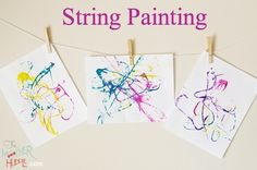tring Painting Kids Craft – aka - A Keep The Kids Busy For 56 Minutes Craf