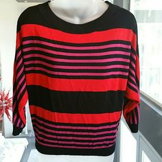 I-N-C International Concepts top I-N-C International Concepts top. Features colors of red, pink and black. Worn once, good conditon. 100%rayon Size small INC International Concepts Tops