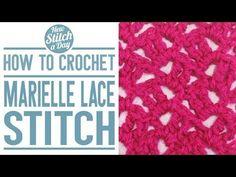 Marielle Lace Stitch :: Crochet Stitch #9 :: New Stitch A Day