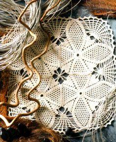 tejidos artesanales en crochet: carpeta cuarteto en simetria