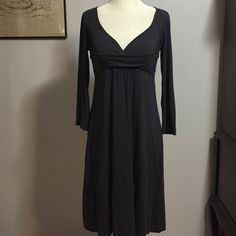 Ric Rac for Anthropologie Charcoal gray Dress- Sm Sooo soft & comfortable- Modal/ supina cotton blend!! Nice & stretchy for a fantastic fit. Perfect condition Anthropologie Dresses