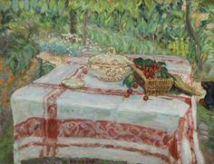 jimlovesart:Pierre Bonnard - Nature Morte aux Cerises, 1914.