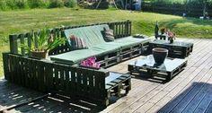 Wood Pallet Lawn Furniture | DIY wooden pallet deck furniture. | DIY