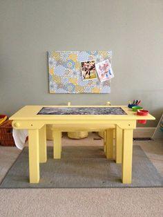 Childrens Activity Table.  Handmade by TinBarnCreations, Mobile, AL. Etsy.