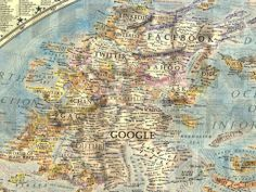 The main landmass on the left is populated bysoftware companies - with Google and Facebook dominating. Popular online games including World ...