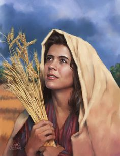 Healing Words of Grace Tuesday December 2014 Continued Significance of Jesus Family Tree Ruth was a Moabite, a Gentile whose family origin we read about in Genesis Bible Art, Bible Scriptures, Lds Art, Bible Illustrations, Bible Pictures, Biblical Art, Bible Stories, Christian Art, Christian Women