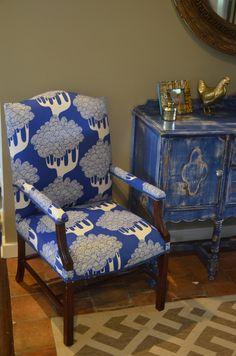 Using Ikea curtain as upholstery fabric www.ciburbanity.com