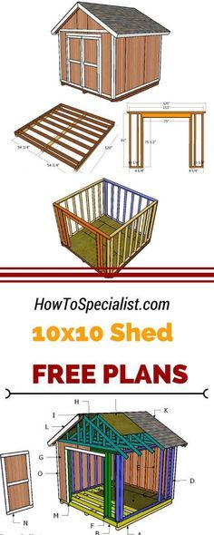 10x10 Shed Plans, Small Shed Plans, Wood Shed Plans, Small Sheds, Free Shed Plans, The Plan, How To Plan, Plan Garage, Diy Storage Shed Plans