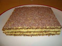 PRAJITURA REGALA - imagine 1 mare Romanian Desserts, Romanian Food, Sweets Recipes, Cake Recipes, Cooking Recipes, Hungarian Cake, Food Carving, Pastry Cake, Flan