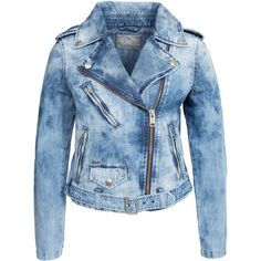 Diesel De Lupus Jacket (€410) ❤ liked on Polyvore featuring outerwear, jackets, tops, denim, womens-fashion, biker jean jacket, zipper jacket, zip denim jacket, denim jacket and diesel jacket