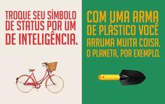Série de posters divulgam que mudar o mundo é rápido, grátis e divertido. #poster #art #nice