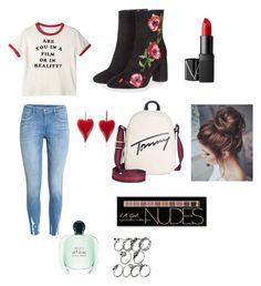 """Untitled #6"" by himani3446 ❤ liked on Polyvore featuring H&M, Topshop, Tommy Hilfiger, NARS Cosmetics and Charlotte Russe"