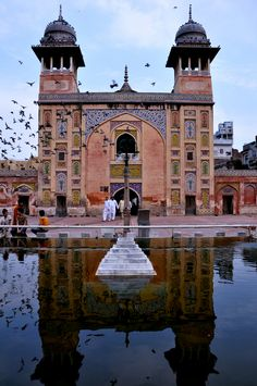 Birds and Masjid Wazir Khan, Lahore