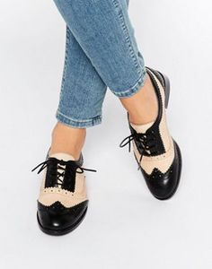 ** WOMEN** Office Frontier Two Tone Leather Brogues