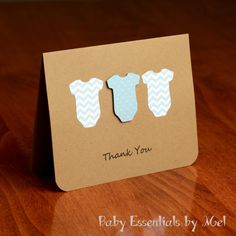 Thank you cards with ONESIES. Pink (or blue) chevron. Must have for new baby thank you cards.