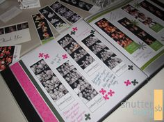 Photo booth albums are a fun, bright, and thoughtful alternative to a guest book.