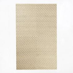 Chevron Knot Rug - Ivory #westelm $600 for 9x12 (Reeds Nursery at honey&fitz)