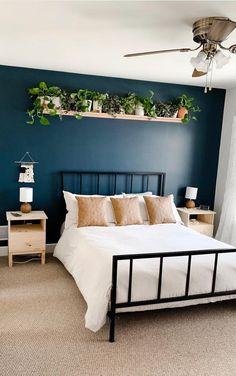 🔔 93 modern room decorating ideas modern bedroom colors and modern bedroom furniture 52 Modern Bedroom Decor, Home Bedroom, Bedroom Wall, Bedroom Ideas, Bedrooms, Master Bedroom, Design Bedroom, Bedroom Interiors, Modern Room