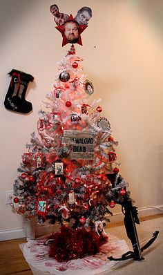 Maybe this will be our theme tree this year. Only Rick is going to be the topper. Duh..