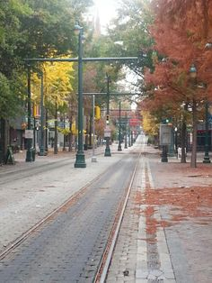 Downtown Memphis in November. I actually took a pic of my husband and daughter walking down the tracks last fall. ♡