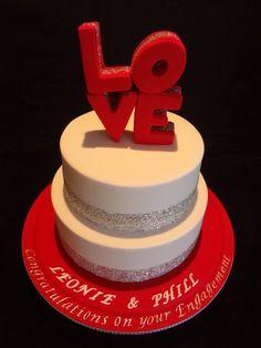 LOVE topper Engagement cake