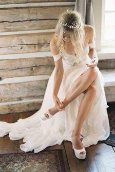 A-Line Wedding Dress Chiffon Wedding Dress Wedding Dresses 2018 Wedding Dress Chiffon, Wedding Dresses 2018, Formal Dresses For Weddings, Elegant Wedding Dress, Cheap Wedding Dress, Bridal Dresses, Ivory Wedding, Wedding Shoes, Prom Dresses
