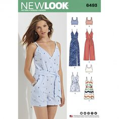 Looking for a dress or jumpsuit sewing pattern? The 6495 dress & Jumpsuit from New Look is perfect, read sewing pattern reviews here!
