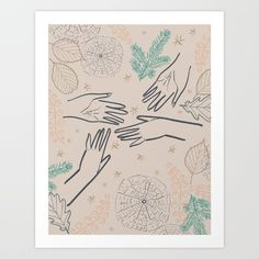 Reaching Spark Art print by Katie Boland Design Society6
