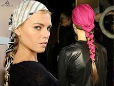 cabelos e penteADOS com laços lenços ou fitas - Pesquisa Google
