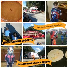 Raising Samuels Homeschool: Homeschool Week 10: Halloween Parade & Europe
