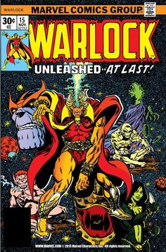 (By Jim Starlin Leialoha. by Jim Starlin! Warlock Starlin writes and draws it. (Starlin does issues are by Jim Starlin. first Cocoon/HIM/Adam Warlock ! Adam Warlock, Warlock Marvel, Marvel Comics Superheroes, Hq Marvel, Marvel Series, Marvel Comic Character, Marvel Comic Books, Comic Books Art, Marvel Characters