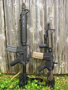 AR Pistol and Dissipator rifle. Careful wit the vertical grip on the pistol if it is not a registered AOW.