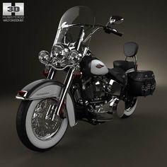 Harley-Davidson Heritage Softail Classic 2012 3d model from humster3d.com. Price: $75 #harleydavidsonsoftailheritage
