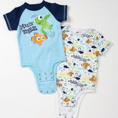 Disney Cuddly Bodysuit™ with Grow-An-Inch-Snaps™ FINDING NEMO 2-Pack