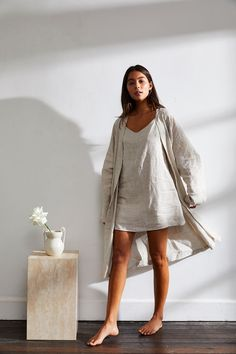 You asked, and we listened. After over five months of trials, testing and perfecting, our capsule collection of loungewear—Threads. by Bed Threads.—is here, designed to keep you cool, cosy and ultra-comfortable in and out of bed. Pijamas Women, Cute Comfy Outfits, Sleepwear Women, Sleepwear & Loungewear, Linen Dresses, Couture, Mode Inspiration, Nightwear, Lounge Wear