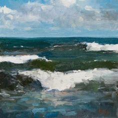 "Daily Paintworks - ""Open Sea"" - Original Fine Art for Sale - © Randall Cogburn"