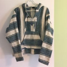 Bohemian blanket sweatshirt Very good condition, hardly worn blanket sweatshirt. Perfect for college students. Very Slight pilling but it's easily removed Sweaters Shrugs & Ponchos