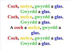 Coch, Melyn, Gwyrdd a Glas