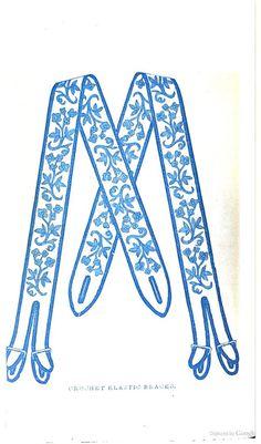 Godey's Magazine - suspenders 1860s