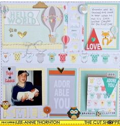 The Cut Shoppe: DT Member Lee-Ann Thornton used the Captured on Camera cut file and Love Notes printable for this fun layout.