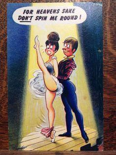 Saucy Seaside Postcard - Comic Series - Bamforth No. 2493