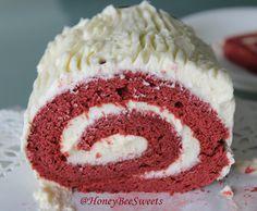 Honey Bee Sweets: Red Velvet Christmas Yule log Cake